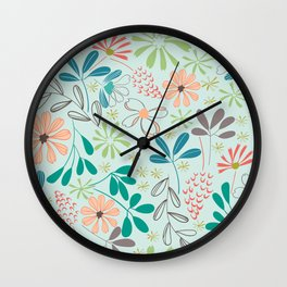 floral repeating pattern Wall Clock