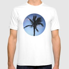 Palm at Sunset Mens Fitted Tee White MEDIUM