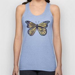 Gold Butterfly Unisex Tank Top