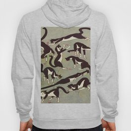 Edited magazine cover - The Lone hand - 1909 Cat Playing With Mouse Vintage Pattern Hoody
