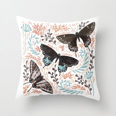 Swallowtail Butterflies Throw Pillow