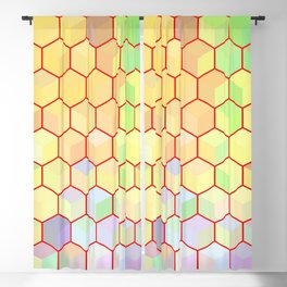 Hexagon Cube Tiles 98 Blackout Curtain