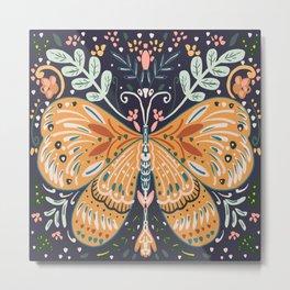 Bohemian butterfly- neutral colours Metal Print
