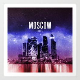 Moscow Wallpaper Art Print