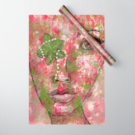Come Thru Pink and Green Wrapping Paper