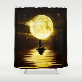 Beauty Mermaid Starry Night Shower Curtain