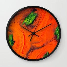 Red Garden Wall Clock