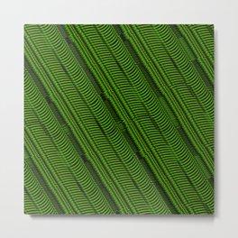 Lime Line Metal Print
