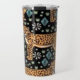Cheetah safari art printmaking screen print giclee by andrea lauren Travel Mug