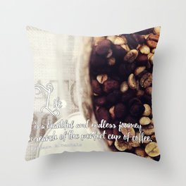 Coffee quotes Throw Pillow