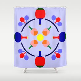 Table Tennis Design Shower Curtain