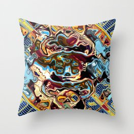 Chaotic Abstract Conglomeration Throw Pillow