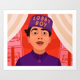 Lobby Boy Art Print