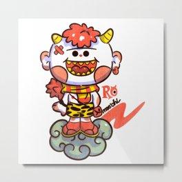 Red Oni Metal Print