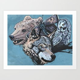 In the forest.. Art Print