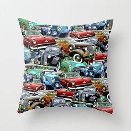 Classic Cars (K.T.B.) Throw Pillow