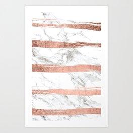 MARBLE--STRIPE Art Print