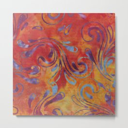 Sunset Batik 05 Metal Print