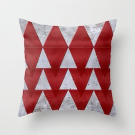 Triangles on grunge Throw Pillow