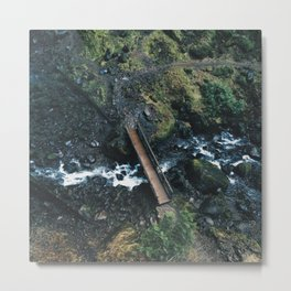Bridge Over Creek at Elowah Falls Oregon Metal Print