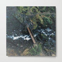 Bridge Over Creek at Elowah Falls Oregon Metal Print