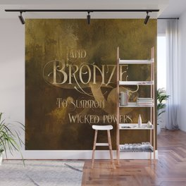And BRONZE to summon wicked powers. Shadowhunter Children's Rhyme. Wall Mural