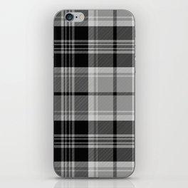 Black & White Tartan (var. 2) iPhone Skin