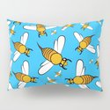 Bees pattern in blue by brucestanfield
