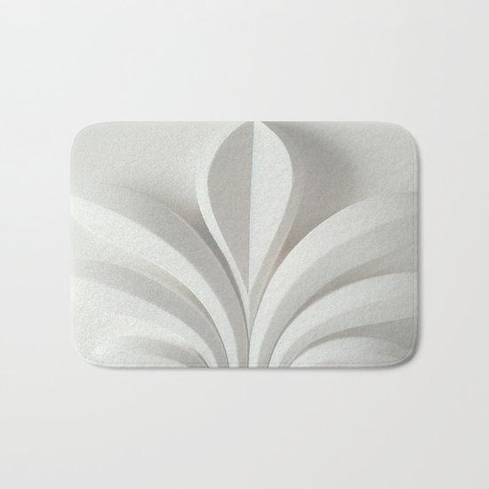 White sculpture Bath Mat