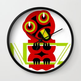 Pop art hei tiki Wall Clock