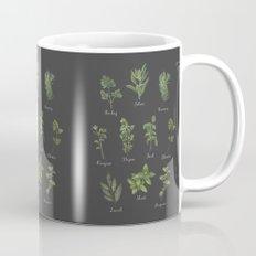 HERBS on black Mug