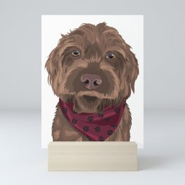 Remington the Wirehaired Pointing Griffon Mini Art Print