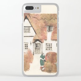 The gherkin lady and her garden Clear iPhone Case