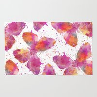 artsy Area & Throw Rugs featuring Artsy Butterfly by LebensART