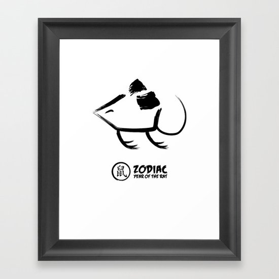 Chinese Zodiac - Year of the Rat Framed Art Print