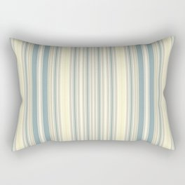 Seafoam Green Yellow Stripes Rectangular Pillow