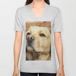 A Labrador. (Painting) Unisex V-Neck