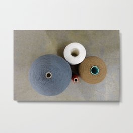 Thread Spools Metal Print