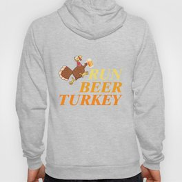 Thanksgiving T-Shirt Funny Run Beer Turkey Tee Running Gift Hoody