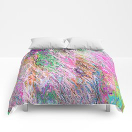 Abstract Vibrant Purple Blue Pattern Comforters
