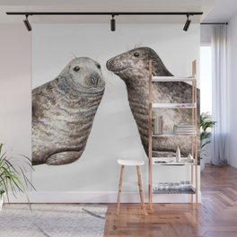Grey seals(Halichoerus grypus) Wall Mural