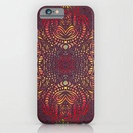 Orange Zentangle iPhone Case