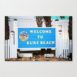 Small Town Beach Canvas Print