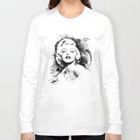monroe Long Sleeve T-shirts featuring Monroe by Ron Jones The Artist