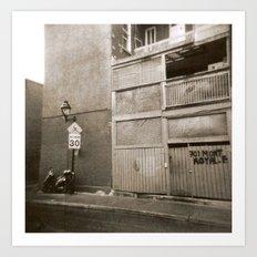 Montreal Street with Holga Art Print