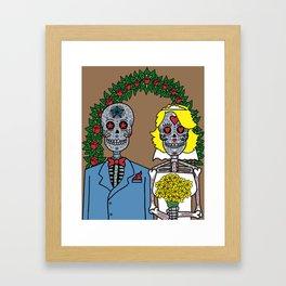 Day of the Dead Bride & Groom Portrait Framed Art Print