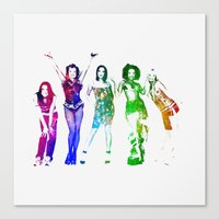 spice girls Canvas Prints featuring Spice Girls. by Greg21