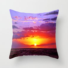 Sunset at Sea 2 - Hawaii Throw Pillow
