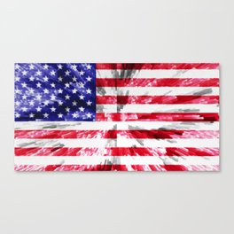 American Flag Extrude Canvas Print