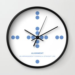 Design Principle TWO - Alignment Wall Clock